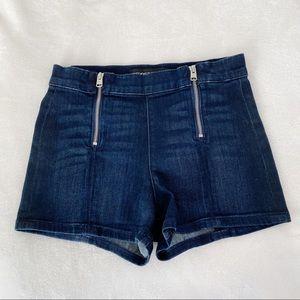 EXPRESS High Waisted Side Zipper Shorts.